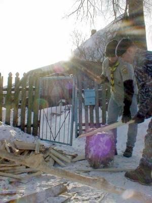 Помощь жителям деревни