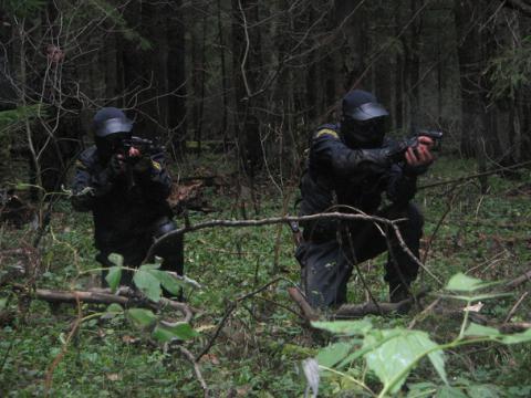 Занятия в Подмосковном лесу