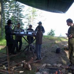 Летний лагерь 206 отряда (о. Коневец)